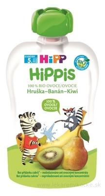 HiPP HiPPis 100% Ovocie Hruška Banán Kiwi kapsička (od ukonč. 5. mesiaca) ovocný príkrm 1x100 g