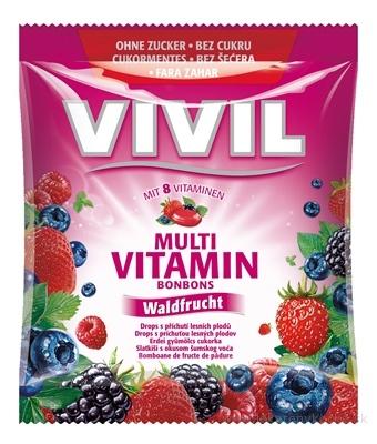 VIVIL BONBONS MULTIVITAMÍN drops s príchuťou lesného ovocia, bez cukru 1x60 g