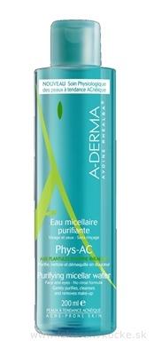 A-DERMA PHYS-AC EAU MICELLAIRE PURIFIANTE čistiaca micelárna voda 1x200 ml