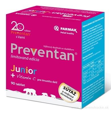 FARMAX Preventan Junior + vitamín C tbl limitovaná edícia - súťaž 1x90 ks