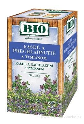 HERBEX BIO KAŠEĽ A PRECHLADNUTIE S TYMIÁNOM bylinný čaj 20x1,2 g (24 g)
