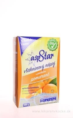 asp STAR práškový vlákninový nápoj, príchuť pomaranč 1x300 g
