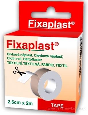 FIXAplast Cievková náplasť 2,5cm x 2m textilná 1x1 ks