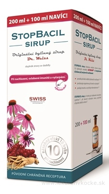STOPBACIL SIRUP - Dr.Weiss 200+100 ml navyše (300 ml)