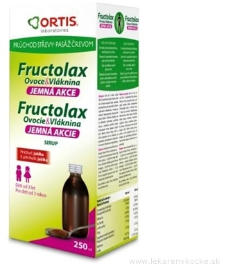 Fructolax Ovocie a vláknina SIRUP (príchuť jablka) 1x250 ml