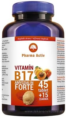 Pharma Activ Amygdalin Forte Vitamín B17 tbl 45+15 zdarma (60 ks)