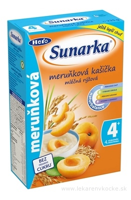 Sunárek mliečna ryžová kašička marhuľová (od ukonč. 4. mesiaca) 1x225 g