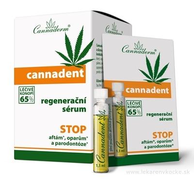 Cannaderm CANNADENT regeneračné sérum na afty a opary 10x1,5 ml