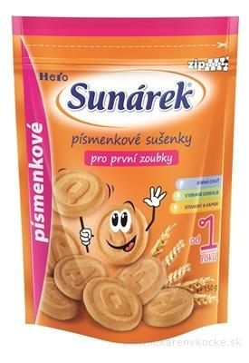 Sunárek sušienky písmenkové pre prvé zúbky (od ukonč. 1. roku) 1x150 g