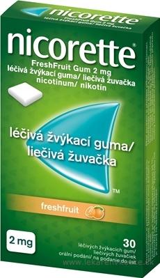 Nicorette Freshfruit Gum 2 mg gum med 1x30 ks