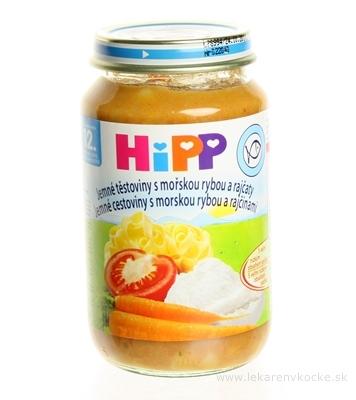 HiPP Príkrm Jemné cestoviny, morská ryba a rajčiny detské menu (od ukonč. 1. roka) 1x220 g