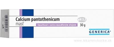 GENERICA Calcium pantothenicum masť Emollient s extra mandľovým olejom 1x30 g