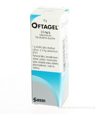OFTAGEL 2,5 mg/g gel oph (fľ.LDPE) 1x10 g