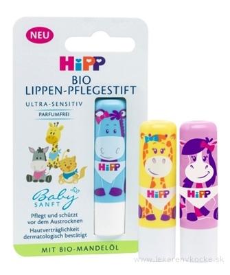 HiPP BabySANFT Balzam na pery ultra-sensitiv, s bio mandľovým olejom, 1x4,8 g