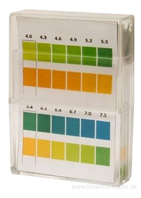 kompava INDIKAČNÝ PAPIERIK prúžky, testovanie pH (4,0-7,5) moču, 1x100 ks