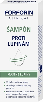 FORFORIN ŠAMPÓN PROTI LUPINÁM mastné lupiny 1x200 ml