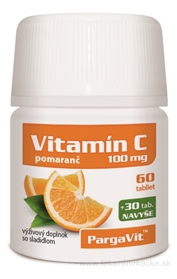 PargaVit VITAMÍN C Pomaranč tbl 60+30 navyše (90 ks)