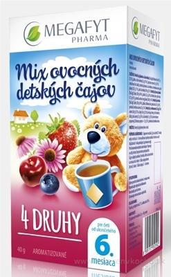 MEGAFYT MIX ovocných detských čajov 4 DRUHY (od ukonč. 6. mesiaca) 20x2 g (40 g)
