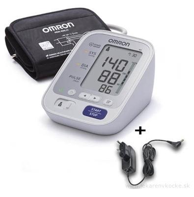 OMRON M3 Digitálny TLAKOMER automatický na rameno s predĺženou manžetou 1 ks + sieťový adaptér 1 ks, 1x1 set
