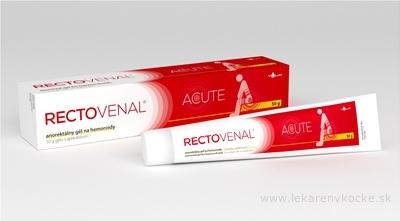 RECTOVENAL ACUTE anorektálny gél na hemoroidy, s aplikátorom 1x50 g