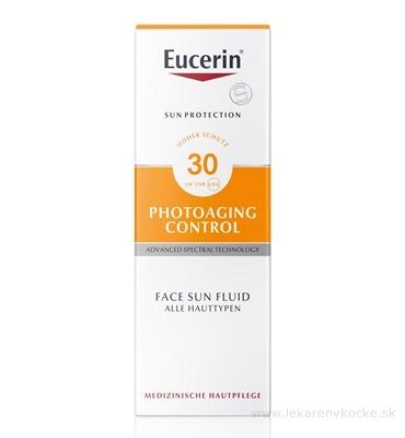 Eucerin SUN PHOTOAGING CONTROL SPF 30 emulzia na opaľovanie na tvár 1x50 ml