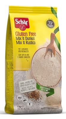 Schär MIX (IT) Dunkel múka plv (bezgluténová chlebová zmes tmavá) 1x1 kg