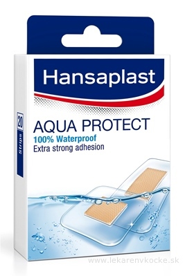 Hansaplast AQUA PROTECT náplasť, stripy 1x20 ks