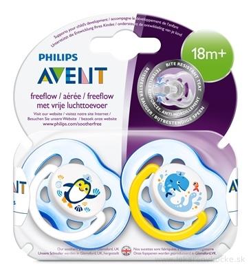 AVENT CUMLÍK 18M+ freeflow, chlapec na utišovanie, silikón, sensitive 1x2 ks