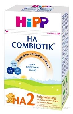 HiPP HA 2 Combiotik (inov. 2019) následná dojč. výživa (od ukonč. 6. mesiaca) 1x500 g