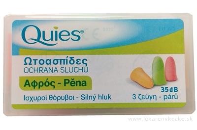Quies Penové chrániče sluchu 35 dB, 3x2 ks