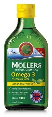 MOLLER´S Omega 3 RYBÍ OLEJ Citrónová príchuť z pečene tresiek 1x250 ml