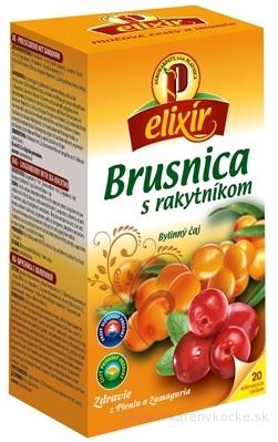 AGROKARPATY BRUSNICA s rakytníkom ovocno - bylinný čaj, balené vrecúška, 20x1,5 g (30 g)