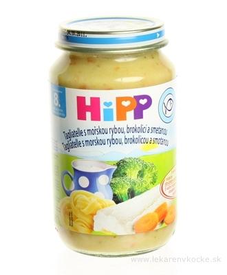 HiPP Príkrm Tagliatelle s mor.rybou, brok.a smot. Junior menu (od ukonč. 8. mesiaca) 1x220 g
