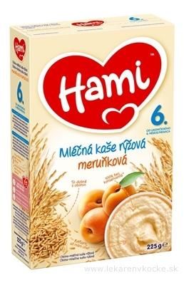Hami mliečna kaša ryžová marhuľová (od ukonč. 6. mesiaca) 1x225 g