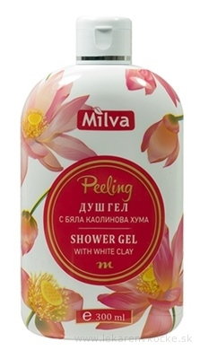 Milva SPRCHOVÝ GÉL PEELING (Shower gel WHITE CLAY) 1x300 ml