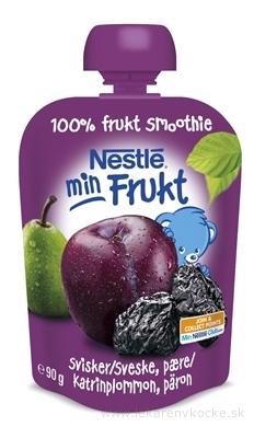 Nestlé min Frukt Slivka Hruška kapsička, ovocná desiata (od ukonč. 6. mesiaca) 1x90 g