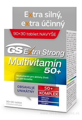 GS Extra Strong Multivitamín 50+ tbl (inov.2019) 90+30 navyše (120 ks)