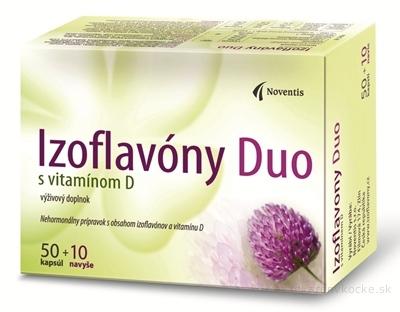 Noventis Izoflavony Duo s vitamínom D 50+10 cps.