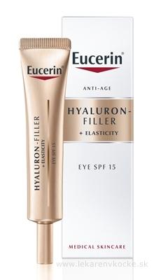 Eucerin HYALURON-FILLER+ELASTICITY očný krém SPF 15, 1x15 ml