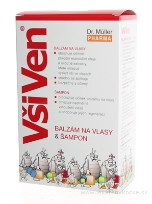 Dr. Müller VšiVen sada šampón 150 ml+balzam 150 ml+hrebeň, 1x1set