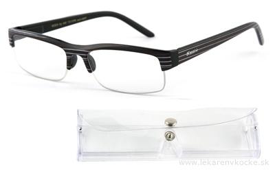 American Way okuliare na čítanie FLEX čierne s pruhmi +2.00 + púzdro 1 ks, 1x1 set