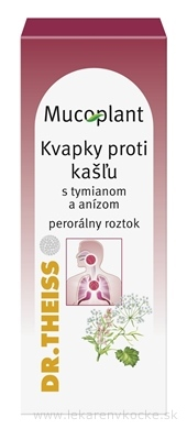 Mucoplant Kvapky proti kašľu s tymiánom a anízom sol por (fľ.skl.hnedá) 1x30 ml