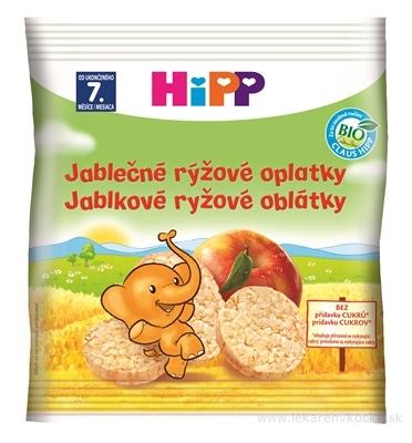 HiPP jablkové ryžové oblátky 30g