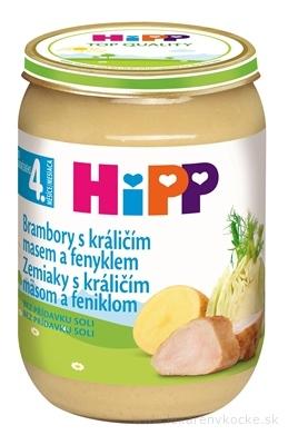 HiPP Príkrm Zemiaky s králičím mäsom a feniklom Baby menu (od ukonč. 4. mesiaca) 1x190 g