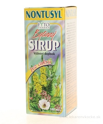 FYTO NONTUSYL Bylinný SIRUP bez cukru 1x100 ml