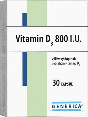 GENERICA Vitamin D3 800 I.U. cps 1x30 ks