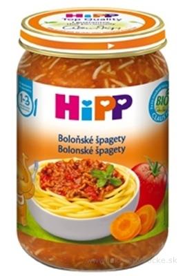HIPP Príkrm BIO Bolonské špagety nová receptúra 2016, (od ukonč. 1 roka), 1x250 g