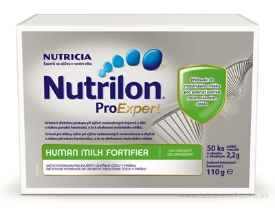 Nutrilon ProExpert Human Milk Fortifier (HMF) (od narodenia) vrecká 50x2,2 g (110 g)