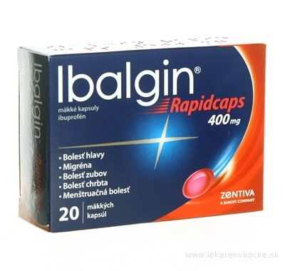 Ibalgin Rapidcaps 400 mg cps mol (blis.) 1x20 ks