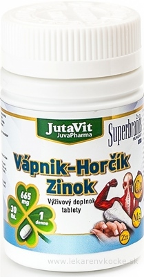 JutaVit Vápnik Horčík Zinok tbl 1x30 ks